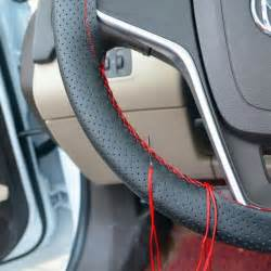 Steering Wheel Covers Diy 1pc Diy Car Steering Wheel Cover With Needles And Thread