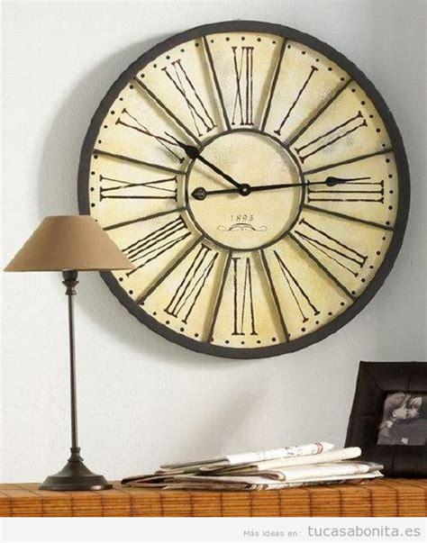 decoracion de sala pequeña vintage relojes de pared grandes vintage