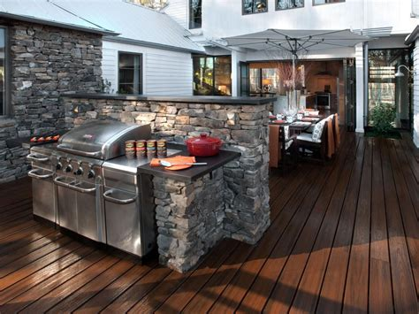 outdoor bbq kitchen designs 20 outdoor kitchens and grilling stations hgtv