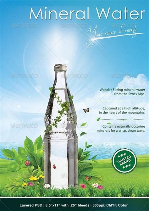 product layout ad poster mineral water advertising of the world