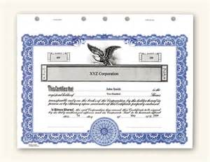 Corporate Stock Certificate Template Free Corporate Stock Certificates