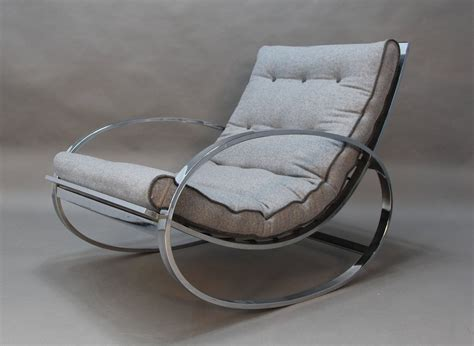 rocker and ottoman chrome rocker and ottoman by renato zevi for sale at 1stdibs