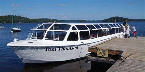 boat tour huntsville tom thomson returns to muskoka in boat form
