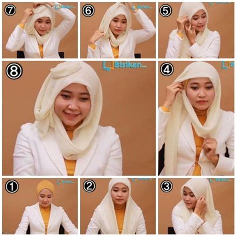 tutorial hijab paris untuk sekolah round faces hijabs and tutorials on pinterest