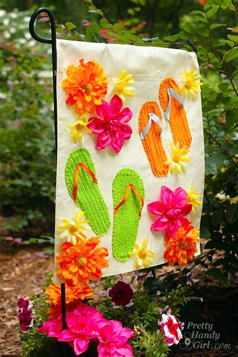 summer garden flag   dollar store placemat pretty