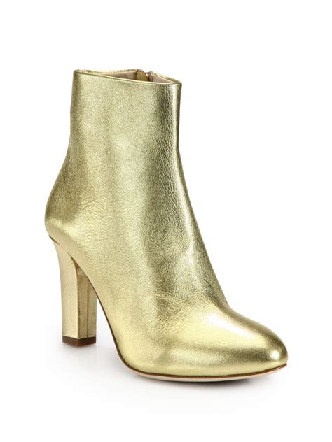 metallic boots jerome c rousseau metallic leather ankle boots in