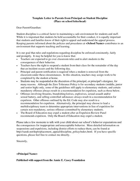 letter to parents template from teachers behavior letter to parents from template exles
