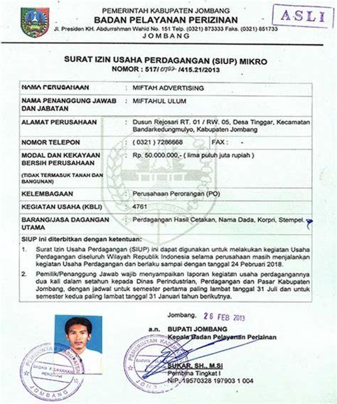 Contoh Surat Izin Di Perusahaan by Jasa Pengurusan Surat Izin Usaha Perdagangan Siup Di Jakarta