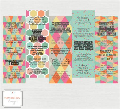 printable bookmarks for teacher appreciation items similar to teacher quotes printable bookmarks