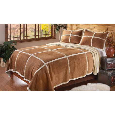 sheepskin comforter outback imitation shearling bedding set 166822 quilts