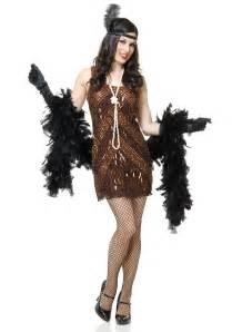 1920 s halloween costumes women s brown sugar flapper costume
