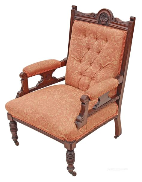 old armchairs victorian edwardian gents carved walnut armchair