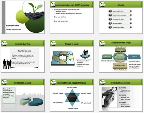 business plan template powerpoint free download business