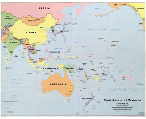 map of oceania maps of oceania and oceanian countries political maps