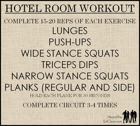 hotel room workout no equipment hotel room workout he she eat clean healthy recipes workout plans