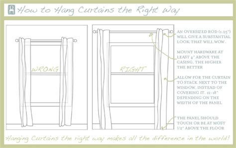 how to hang curtains properly notes from pembroke hall how to hang curtains correctly