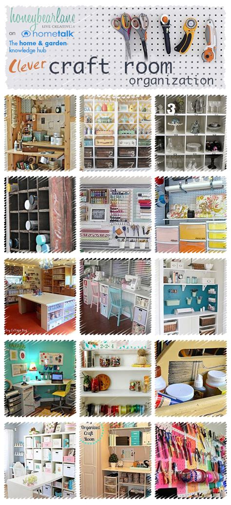 diy craft room organization ideas 25 ideas for craft room organization honeybear