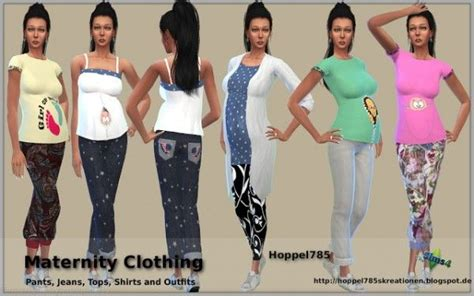 download hair and clothes for sims 4 hoppel785 maternity clothing sims 4 downloads sims 4