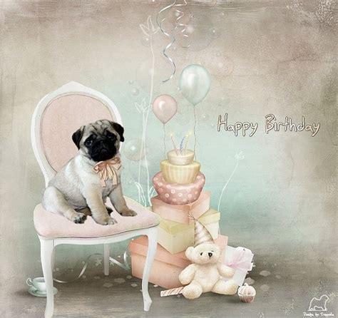 happy birthday pug card 19 best images about pug birthday cards on home pug and happy birthday