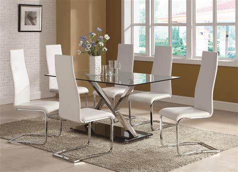 Modern White Glass Dining Table Modern Glass Dining Table And Chairs Brucall
