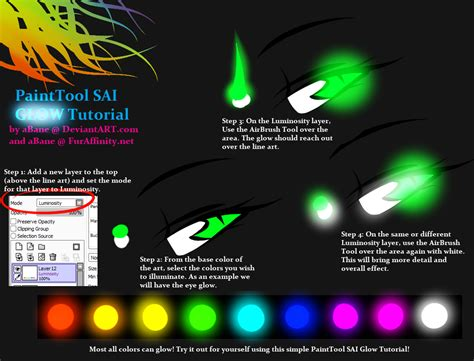 Painttool Sai Glow Tutorial By Abane On Deviantart
