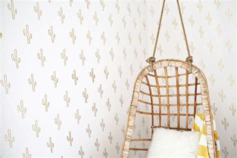 Diy Projects For Home Decor by Gold Cactus Wallpaper Diy A Beautiful Mess