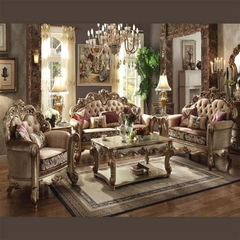 gold living room furniture acme vendome gold collection living room set products