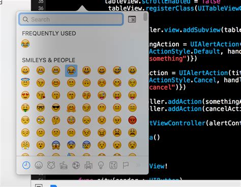emoji xcode xcode how to add emoji in code stack overflow