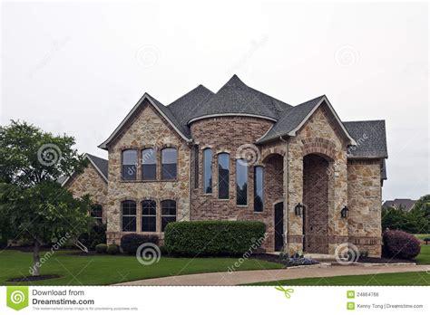 stone brick house luxury brick stone house stock photo image of house 24864766