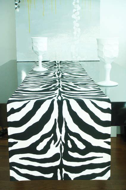 zebra pattern table runner table runner new 675 table runner zebra