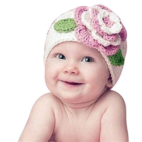 how to knit flower for baby hat meily tm warm beanie knit hat big flower baby