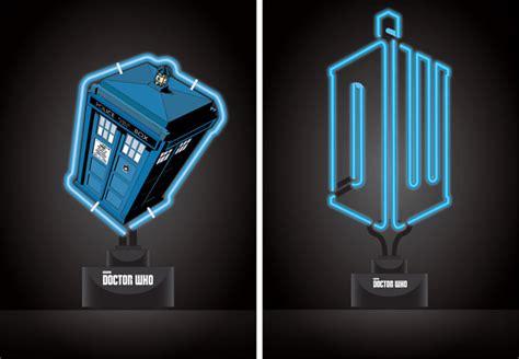 Doctor Who Logo Pvc Tardis Neon Table Lights Doctor Who Lights