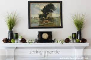 fireplace mantel setting for four