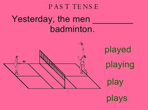 swing past tense sporting past present future tense verbs