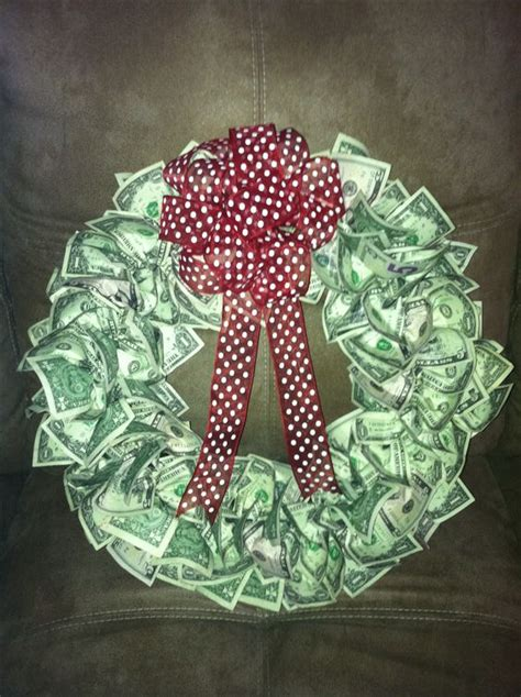 money origami wreath money wreath who wouldn t want this gifts