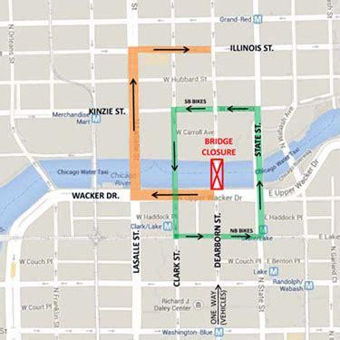 chicago riverwalk map dearborn bridge up next for riverwalk construction loop