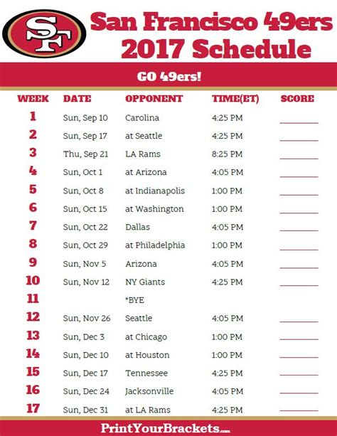 Calendario 49ers 25 Best Ideas About 49ers Schedule On Sf