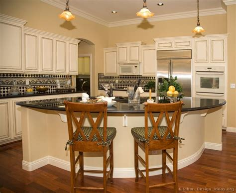 Pictures Of Kitchens Traditional Off White Antique Island Kitchen Ideas