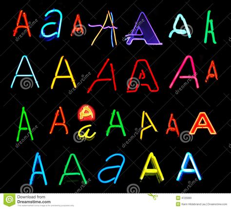 printable neon letters a neon letters stock photo image of artistic