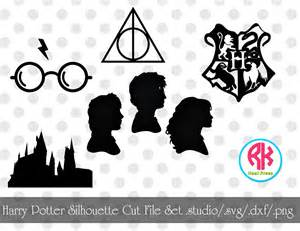 harry potter silhouette cut file set png dxf svg from