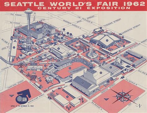 Map Shop Seattle by Fair Map 1962 Seattle World S Fair Pinterest