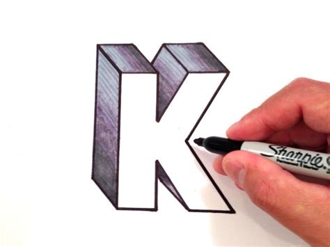 Letter K Drawing by How To Draw The Letter K In 3d Clipzui