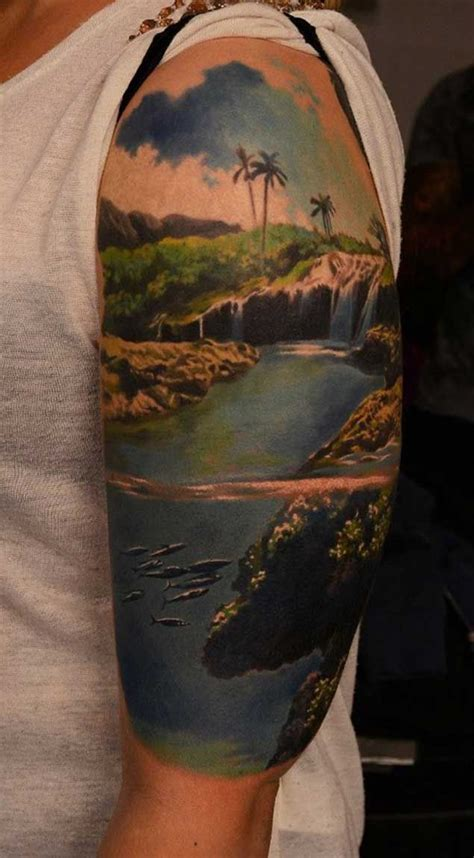 scenery tattoos 1000 ideas about landscape on mountain