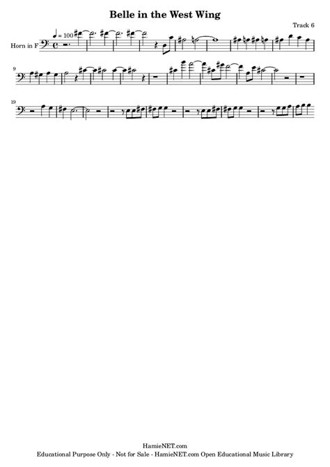 theme music west wing belle in the west wing sheet music belle in the west