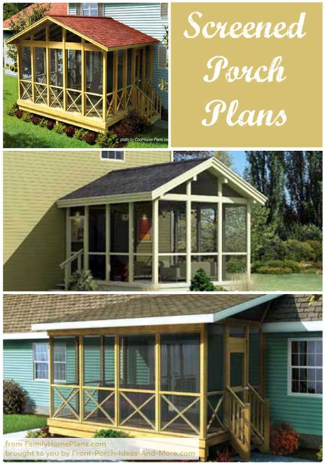 porch building plans screened in porch plans to build or modify