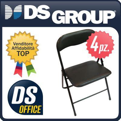 poltrone pieghevoli imbottite set di sedie 4 pz ufficio casa pieghevoli imbottite