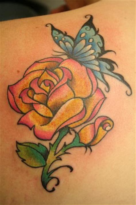 rose and butterfly tattoo designs 37 inspiring butterfly and tattoos
