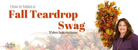 how to make a fall teardrop swag teaching you to make