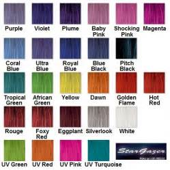 purple hair color chart magenta semi permanent hair colour rinse dye stargazer 70ml