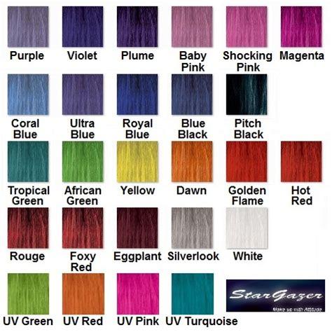 purple hair color chart purple semi permanent hair colour rinse dye stargazer 70ml